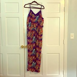 NWT Xhilaration Tropical Print Jumpsuit - L
